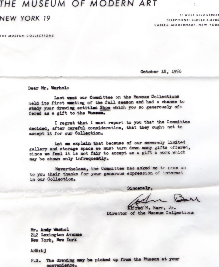 Andy Warhol Denial Ltr