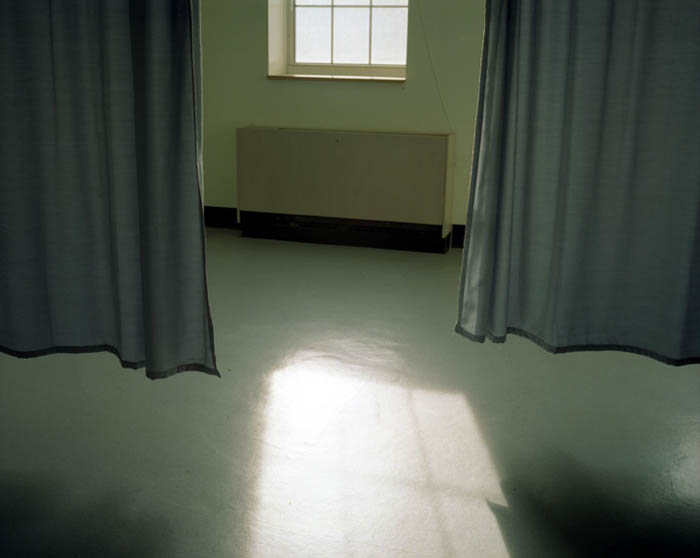 Curtains in exam room, new hospital, Governors Island, NY 2003